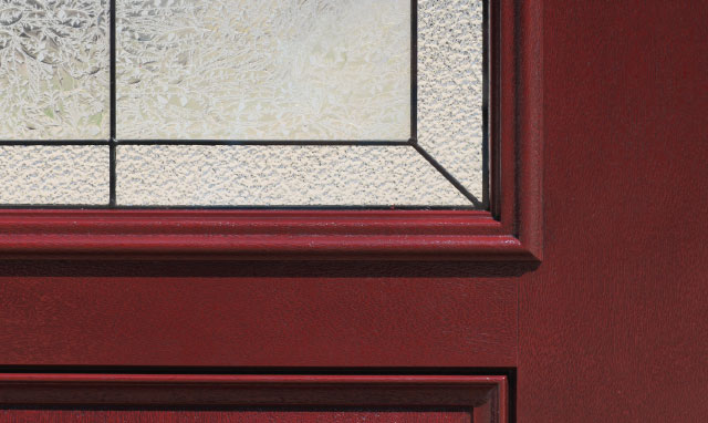 direct glazed prefinished fiberglass door